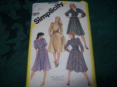 Vintage Simplicity Dress Pattern 6025 Sewing Pattern by vintagecitypast on Etsy