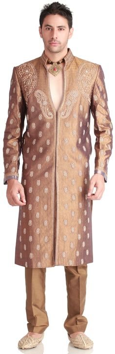 Bronze Wedding #Designer  #Sherwani - MEN'S WEAR