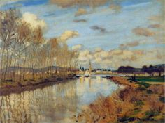 Argenteuil, Seen from the Small Arm of the Seine, 1872 Claude Monet