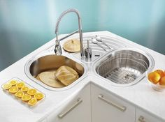 Adorable Corner Kitchen Sink Cool Decorating Kitchen Ideas With Corner Kitchen Sink