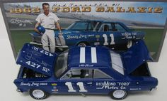 1965 NED JARRETT #11 FORD GALAXIE **AUTOGRAPHED** 1/24 UNIVERSITY OF RACING LEGENDS DIECAST