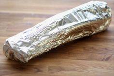 wrap celery in foil to keep fresh.