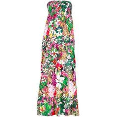 Tsumori Chisato Floral Print Maxi Dress ($560) ❤ liked on Polyvore