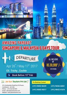 #123Coimbatore team designed Innovative Brochure for Jai Sun Tourism - Amazing Fareast Singapore & Malaysia 6 days Tour . See More at => http://www.webdesign.123coimbatore.com/brochures.php