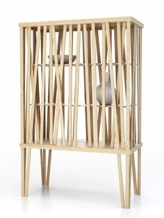 Mikado cupboard by Porro at Milan Design Week @iSaloni - The exclusive installations by Piero Lissoni #wood