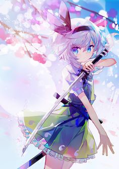 Loli cute anime girl with a katana Cool Anime Girl, Pretty Anime Girl, Beautiful Anime Girl, Kawaii Anime Girl, Anime Art Girl, Anime Girls, Anime Oc, Manga Anime, Katana Anime