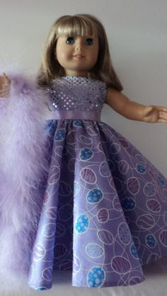 American Girl doll clothes  Easter Egg Gown and by susiestitchit, $17.00