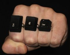 Ctrl+Alt+Del Rings - I NEED these!