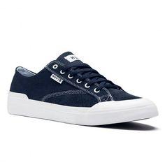 HUF Classic Lo Ess navy white chaussures de skate en daim 75,00 € #skate…