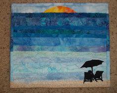 Beachy mug rug