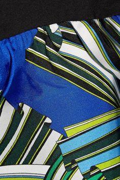 Emilio Pucci - Printed Silk-trimmed Cotton Top - Black -