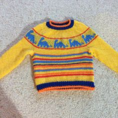 This circular yoke sweater is perfect for future paleontologists and young dinosaur enthusiasts. Diplodocus is worked top down, and includes instructions for a button-tab at neck in the baby sizes so there is no trouble getting the sweater over the head. Sweater is worked entirely in one piece, seamlessly. Colorwork is charted and worked stranded, in the round. Shown in size 4.Yarn note: I recommend using a natural fiber that will have a firm hold and/or felt. Acrylics will be slippery, ...