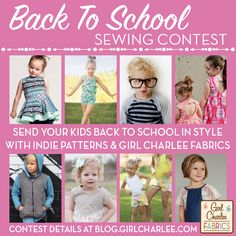 Send your little ones back to school in style with your favorite indie sewing patterns + Girl Charlee Fabrics, and you could win a $75 Girl Charlee gift card! Contest details and more here :)