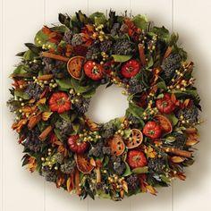 Gorgeous dried fruit floral arrangement for fall. #falldecor