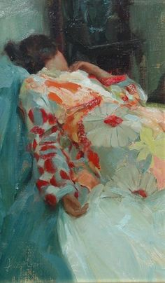 Silk Robe, by Johanna Harmon