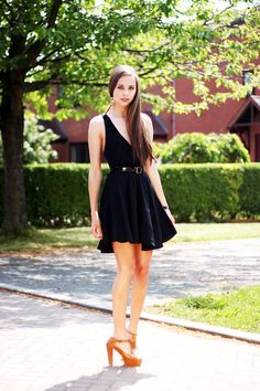 in-love-with-fashion-black-cross-back-open-dress-american-apparel-patent-leather-belt-brown-platform-heels-feather-earrings-summer-spring-dresses-fashion-long-hair-7.jpg 800×1,200 pixels