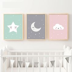 Cheap wall art canvas, Buy Quality art canvas directly from China wall art Suppliers: Woodland Animal Deer Bear Wall Art Canvas Nordic Posters Nursery Prints for Baby Room Painting Picture Kids Bedroom Decoration Baby Room Wall Decor, Baby Room Diy, Baby Bedroom, Baby Decor, Kids Bedroom, Bedroom Art, Bedroom Canvas, Baby Rooms, Baby Room Paintings