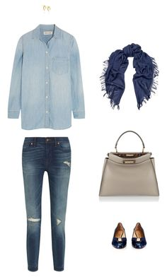 """Teacher's pet"" by styleinacoldclimate ❤ liked on Polyvore featuring Madewell, Fendi, Gucci, Salvatore Ferragamo, Shaun Leane and BackToSchool"