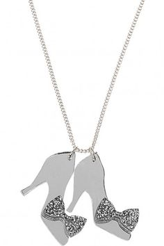 Glass Slippers Cinderella Necklace - Tatty Devine