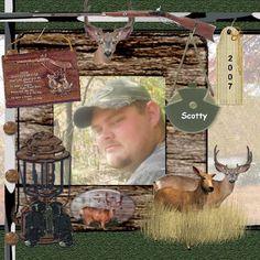 My Nephew Scotty Deer Hunting | Digital Scrapbooking at Scrapbook Flair