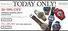 #HudsonsBay: Hudsons Bay Canada Flash Sale: Save 50% Off Save 30-50% off Designer Watches  60% off Effy Fine J... http://www.lavahotdeals.com/ca/cheap/hudsons-bay-canada-flash-sale-save-50-save/98273