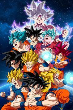 Goku e todas as suas transformações