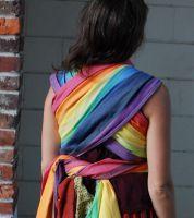 144f6d24495a Cream Weft Rainbow Baby Easycare Woven Wrap Portage, Echarpe, Écharpe  Tissée, Arc En