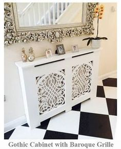 Radiator Cabinet/cover -gothic Or French/shabby Chic . Decor, Interior, Contemporary Cabinets, Radiator Cover, Chic Home, French Shabby Chic, Shabby Chic Furniture, Shabby Chic Room, Chic Home Decor