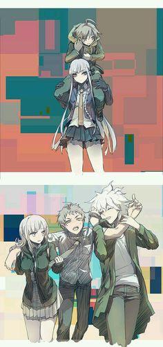 Naegi, Kirigiri, Chiaki, Hinata & Nagito