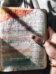 Bible Study Journal, Bullet Journal Books, Bible Doodling, Bible Notes, Bible Encouragement, Scrapbook Journal, Study Inspiration, Book Aesthetic, Bible Art