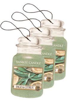 Yankee Candle Paper Car Jar Hanging Air Freshener