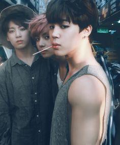 BTS Jungkook V and Jimin #maknaeline