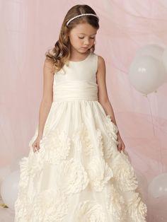 Full Length Sleeveless Girl Pageant Dresses for Wedding Party Elegant Flower Girl Dresses Kids Evening Gown First Communion Dresses for Little Girl