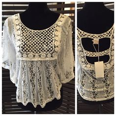 White Lace Top, One size: $56.95