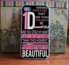 One direction songs  iPhone 4S and iPhone 4 Case by DanazDesigns, $15.99