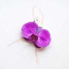 Artist Creates Beautifull Illustrations Using Real Flowers   123 Inspiration