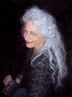 Wendy...beautiful long silver hair.
