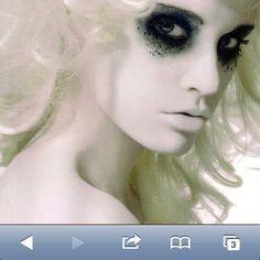May have to try this make-up for my own ghost costume