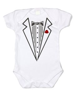 Little Gentleman Tux w/rose-100%cotton7.5 by TheRoyalTWardrobe