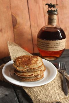 Peach 'n Bourbon Pancakes: Goodbye Special One. Hello Little One!: with the grain
