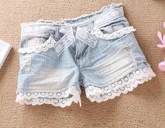 short jeans dentelle - Recherche Google