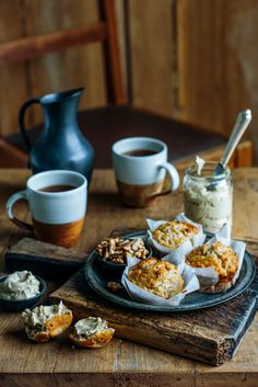Banana Maple Oaty Walnut Muffins with Maple Butter | From The Kitchen | Bloglovin'