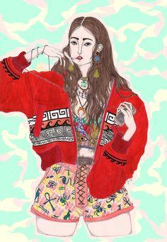 #Ivy - Jeremy Combot Illustration