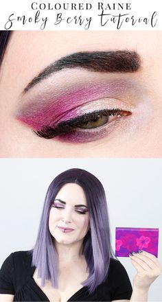 Coloured Raine Berry Cute Tutorial - This is a fun smokey look for hooded eyes featuring cruelty free indie brands Coloured Raine, Aromaleigh and Makeup Geek. I love this smoky berry tutorial! #crueltyfree #crueltyfreemakeup #crueltyfreeblogger #crueltyfreebeautytutorial #tutorial #crueltyfreemakeuptutorials
