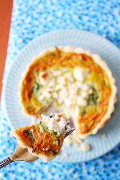 La Tartine Gourmande cookbook & Carrot and zucchini tartlets