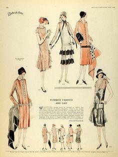 1926 Print McCalls Dressmaking Patterns Womens Flapper Fashion Clothing Hats | eBay