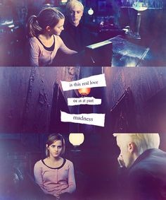 #dramione - love the top picture because its an edit of the scene where Hermione and Ron play piano together but its dramione which I also ship I am going to write fanfiction about canon second gen and a dramione second gen where they have two kids older boy and my original dramione original character a girl who loves piano