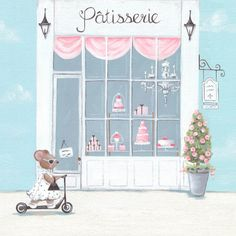 """Little Patisserie"" Canvas Wall Art for Girls from Oopsy Daisy, Fine Art for Kids. Size 10''x10'' for $49. Multiple sizes and additional framing options available. Browse our collection of wall art for kids!"
