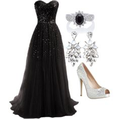 Midnight Gala by emilygsmith1996 on Polyvore featuring polyvore, fashion, style and Forever 21