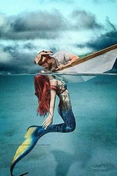 Mermaid and pirat